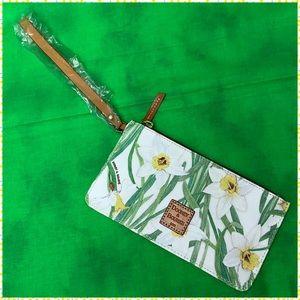 White Daffodils Wristlet